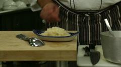Sauerkraut Meal Stock Footage