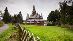 Wooden Stave Church, Harz Mountains, Germany Stock Footage