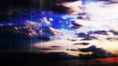 Time lapse clouds grunge Stock Footage