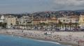 Nice Panoramic View Azure Coast Traveler Walking Passing Swimming Relaxing Sunny HD Footage