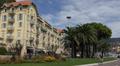 Luxury Resorts French Riviera Nice Palm Trees Car Traffic Buildings People Walk HD Footage