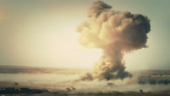 Stock Video Footage of Breathtaking view of a detonating atom bomb