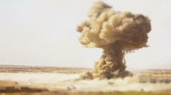 Detonating atom bomb - stock footage