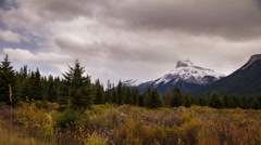 Motion dolly shot at Canadian Rockies Stock Footage