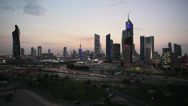Stock Video Footage of Kuwait, City Centre, elevated w/a, night