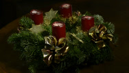 Stock Video Footage of Advent wreath