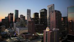 Houston, Texas, USA, downtown city skyline Stock Footage