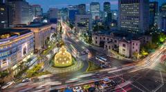 Fountain Square, Financial District, Soul, Etelä-Korea Arkistovideo