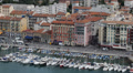 Aerial View Port Nice Luxury Yachts French Riviera France Sailing Boat Buildings Footage