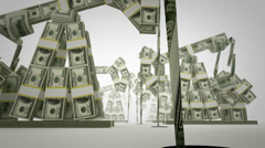 Oil derricks made of money Stock Footage