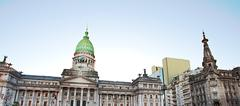 building of congress in buenos aires, argentina - stock photo