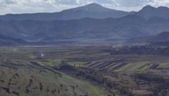 Transylvania villages in valley HDR time lapse HD - stock footage