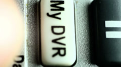 My DVR button press Stock Footage