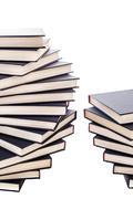 Piles of blue books Stock Photos