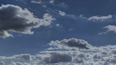 Fast moving HDR clouds time lapse HD - stock footage