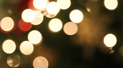 Christmas Tree Lights with Hanging Snowflake Ornaments Bokeh Background 1080p Stock Footage