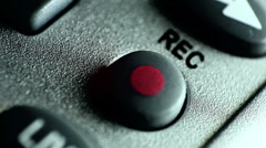 Recording rec button Stock Footage
