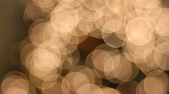 Christmas Tree Lights with Hanging Ornaments Bokeh Background 1080p Stock Footage