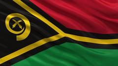 Flag of Vanuatu Stock Illustration