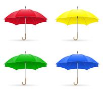 colors umbrellas illustration - stock illustration