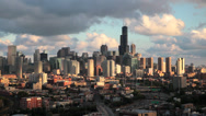 Stock Video Footage of USA, Illinois, Chicago, city skyline, elevated view