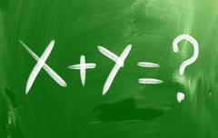 Math text concept Stock Illustration