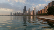Stock Video Footage of USA, Illinois, Chicago, city skyline from Lake Michigan