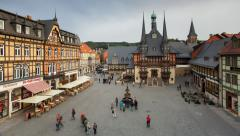 Markt Platz, Wernigerode, Hatz Mountains, Germany - stock footage