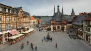 Stock Video Footage of Markt Platz, Wernigerode, Hatz Mountains, Germany