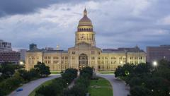 Austin, Texas, USA, State Capitol Building, time-lapse - stock footage