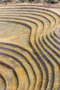 Moray ruins peruvian andes  cuzco peru Stock Photos