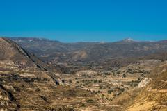 Colca canyon in the peruvian andes at arequipa peru Stock Photos