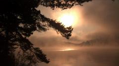 Mystical highland  lake Stock Footage