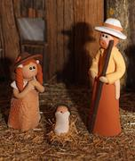 Nativity scene with holy family in south american version 4 Stock Photos