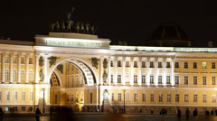 Time lapse of people walking on Palace Square. - stock footage