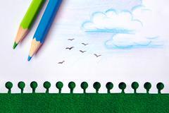 nature drawing - stock photo