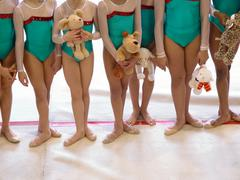 Gymnastics team Stock Photos