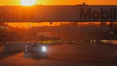 Sunset at the race, 12 hours of Sebring Stock Footage