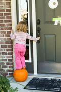 Anybody home i'm hoping to get some candy treat Stock Photos