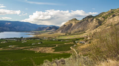 Cloudy day at the Osoyoos Stock Footage