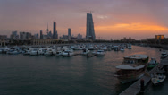 Stock Video Footage of Kuwait, city skyline from Souk Shark Marina