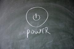 power sign - stock photo