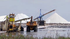 Salt production Stock Footage