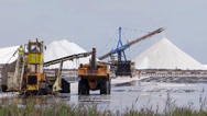 Stock Video Footage of salt production