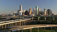 Stock Video Footage of Houston, Texas, USA, highways and city skyline
