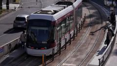 Streetcar in Kumamoto Japan Stock Footage