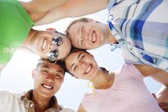 young happy people - stock photo