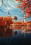 Shah alam mosque in infra red Stock Photos