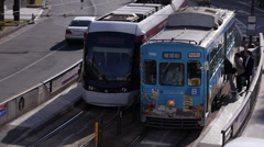 Streetcars in Kumamoto Japan Stock Footage