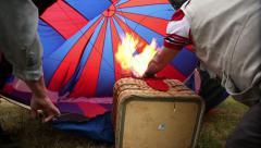 Hot air balloon firing up. Stock Footage